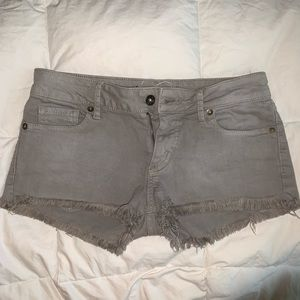 Bullhead gray denim shorts